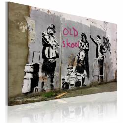Obraz  Old school (Banksy)