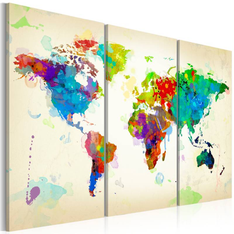 Obraz  All colors of the World  triptych