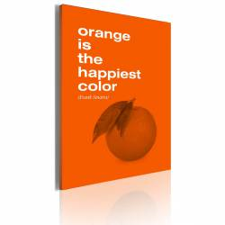 Obraz  Orange is the happiest color (Frank Sinatra)
