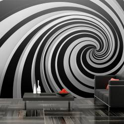 Fototapeta XXL  Black and white swirl