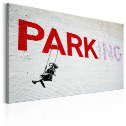 Obraz  Parking Girl Swing by Banksy