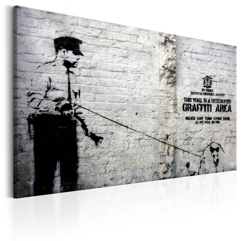 Obraz  Graffiti Area (Police and a Dog) by Banksy