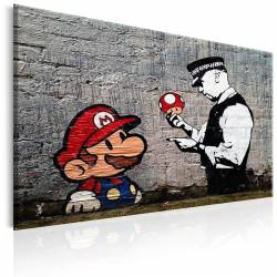 Obraz  Mario and Cop by Banksy